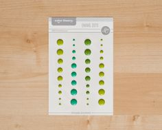 Color Theory Enamel Dots- Green  at @Studio_Calico