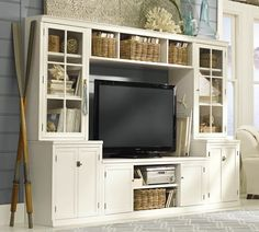Westminster Large White Ornate Tv Entertainment Center