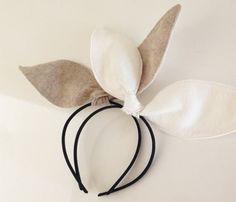 Felt Bunny Ear Headband by bellecompany on Etsy
