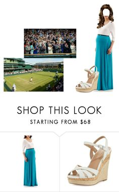 """""""Amelia the Princess Royal Attends Wimbledon 2020"""" by chelseaofwales ❤ liked on Polyvore featuring Charles by Charles David and plus size dresses"""