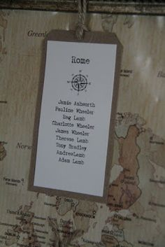 More seating chart ideas for travel theme wedding dinner