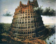 """Pieter Bruegel the Elder - The """"Little"""" Tower of Babel, 1563, oil on panel"""