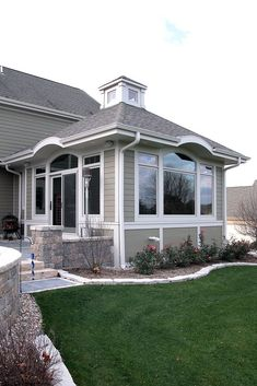 #houseaddition #houseextension / #Sunroom Addition with Cupola. Via: http://barteltremodel.com/portfolio/exteriors/