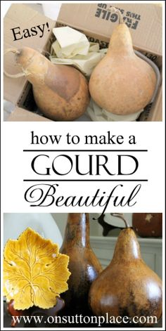 How to Make a Gourd Beautiful! I'm going to do this with my huge amount I have!