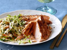 Cedar Plank Salmon With Maple-Ginger Glaze recipe from Food Network Kitchen via Food Network