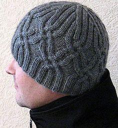 Men's Ski Hat – Knitting patterns, knitting designs, knitting for beginners. Crochet Beanie, Knitted Hats, Knit Crochet, Crochet Hats, Mens Ski Hats, Hats For Men, Knitting Patterns, Crochet Patterns, Knit Hat For Men