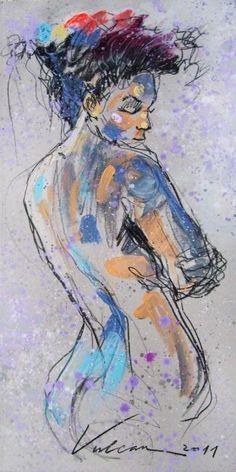 DJOUHER 1 - Painting, 40x60 cm ©2011 by Raluca Vulcan -