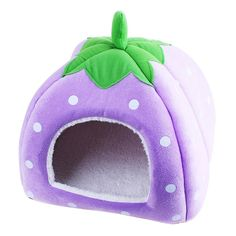Pet's House Strawberry Nest Dog Kennel Teddy Small Dog Kennel Pet House Pet Nest Washable Kennel Small Dog Cushion the Fall and Winter (Purple, X-Small) *** Remarkable product available now.