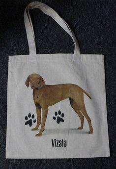 Medium Sized Vizsla Dog Canvas Tote Bag Shopping Bag Grocery Bag Reusable