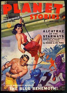 "pulp magazine art | ... Planet Stories,"" a classic golden-age science-fiction pulp magazine"