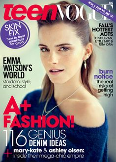 Emma Watson Teen Vogue cover 2013