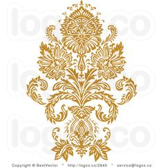 Libre de droits-or-damas design logo par bestvector-2840 (1)
