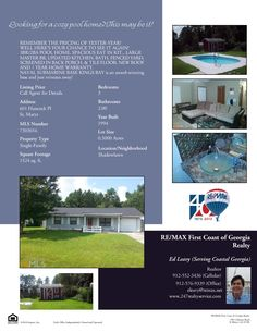 Pool Home for Sale! 601 Hancock Place, Saint Marys! In Shadowlawn