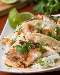 Easy Fish Tacos Easy Fish Tacos Recipe by Tasty Fish Recipes, Seafood Recipes, Mexican Food Recipes, Dinner Recipes, Cooking Recipes, Healthy Recipes, Cooking Pork, Cooking Salmon, Chef Recipes