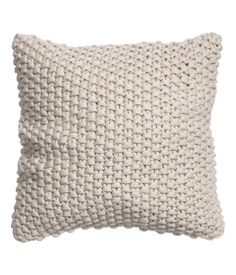 Moss-knit cushion cover with woven cotton fabric at back. Moss-knit cushion cover with woven cotton fabric at back. Knitted Cushion Covers, Knitted Cushions, Knitted Blankets, Cushion Fabric, Find Furniture, Home Decor Furniture, Blanket Basket, Moss Stitch, Knit Pillow
