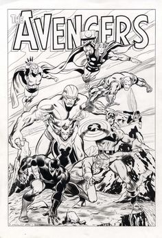 Comic Art Shop :: Kirk Dilbeck's Comic Art Shop :: Avengers circa 1968 by Michael Maikowsky after John Buscema :: The largest selection of Original Comic Art For Sale On the Internet