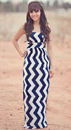 Cute Maxi Dress!!! #chevron