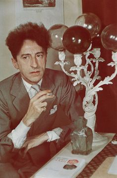 Gisele Freund portrait of Jean Cocteau Jean Cocteau, Writers And Poets, Portraits, French Photographers, Documentary Photography, Artist At Work, Les Oeuvres, Samurai, Pin Up