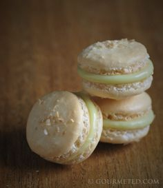 Coconut Macaron with Lime and White Chocolate Ganache - Guest Post by Gourmeted