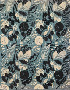 ce-sac-contient: Raoul Dufy (1877-1953) - Floraison, conception de tissu pour Bianchini Ferier à Lyon Gouache sur papier (68 x 52 cm)