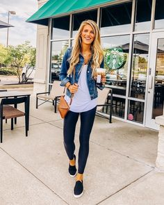 casual spring outfit ideas for women 1 Classy Outfit, Outfit Chic, Classy Fall Outfits, Summer Outfits Women 30s, Cute Casual Outfits, Leggings Outfit Summer Casual, Cute Legging Outfits, Cold Spring Outfit, Summer Outfits For Moms