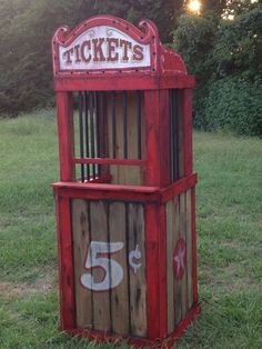 Your place to buy and sell all things handmade : Haunted House Carnival Ticket Booth Halloween by NorTexEvents Halloween Prop, Halloween Projects, Holidays Halloween, Halloween Themes, Halloween Decorations, Halloween 2016, Scary Circus, Haunted Carnival, Carnival Tickets