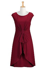 Pomegranate Stretch Cotton Dresses, Red Sheath Dresses For Spring Shop women's designer clothing - Cocktail Dress, Short Dresses, and more | eShakti