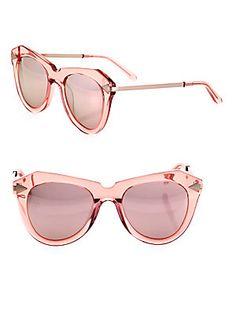 1d8c53adf47 Karen Walker One Star 51MM Mirrored Cat Eye Sunglasses One Star