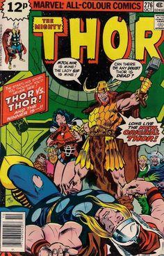 THOR # 276  MARVEL COMICS  ROY THOMAS / JOHN BUSCEMA  1978  f+(6.5)  ~~
