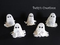 Bettys-creations: Mini-Mullbinden-Geisterchen