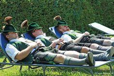 Nap time in Bavaria German Folk, German Men, Berlin Travel, Germany Travel, Pictures Of Germany, German Costume, Lederhosen, Alpine Style, Men In Kilts