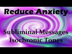 Subliminal meditation and Isochronic tones for anxiety relief. Can be downloaded at: improve your sleep. The subliminal MP3 audio version Can be downloaded a...