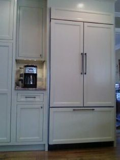 Glass Doors on cabinet. Built in Pantry with cabinet depth ...