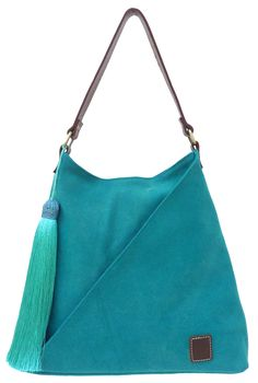 TATYZ Women Cotton and Genuine Leather Triangular Single Handle Summer Hobo Tote Bag (Yellow/Orange/Blue/Teal/Violet/Lemongrass/Red/Purple) Red Purple, Blue Brown, Summer Handbags, How To Make Handbags, Leather Handle, Brown Leather, Bright, Shoulder Bag, Tote Bag