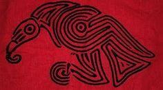Raven Motif - Norse or Celtic? Costume Viking, Viking Garb, Viking Reenactment, Viking Dress, Viking Designs, Celtic Designs, Larp, Vikings, Raven Images