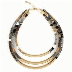 Beautiful 3 stranded bead crochet necklace