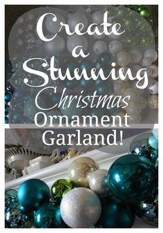 Create a Christmas ornament garland that expresses your own unique color…