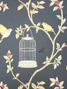 Birdcage Walk Wallpaper NCW3770 | Nina Campbell Birdcage Walk Wallpapers| Birdcage Walk
