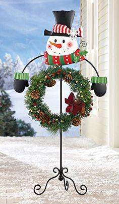 Snowman Holiday Wreath Garden Stake Holder Collections Etc http://www.amazon.com/dp/B00OR4GRO8/ref=cm_sw_r_pi_dp_qAMqvb15RE1KM
