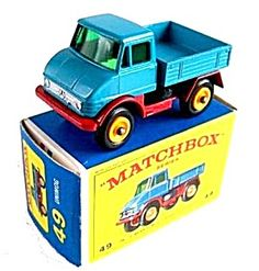 1960s Matchbox No 49 Unimog in Box. Click on the image for more information.