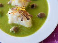 Denny Chef Blog: Baccalà con crema di piselli e cipolle fritte