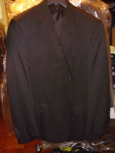 Doc & Amelia Black Blazer Jacket Size 44 Reg Aerocool 3 Button Comfort New NWT #DocAmelia #ThreeButton