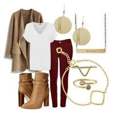 """""""Autumn is here"""" by shophmns on Polyvore featuring Rebecca Lankford Designs, Chicwish, Boohoo, WearAll, Cynthia Vincent, Five and Two, Dinny Hall, fossil, goldplated and fiveandtwo"""