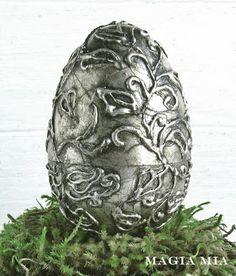 Silver Leaf, a Glue Gun, and Plastic Eggs