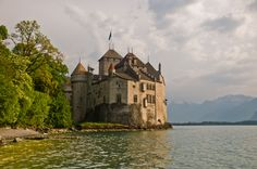 Castles & Manor Houses | allthingseurope:  Chateau Chillon, Switzerland (by...