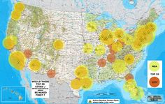 Ever wonder which US cities would be first to be nuked? This map illustrates the top 30. Click here for full list based on population and full size map - http://SurvivalistDaily.com/the-first-cities-that-could-be-nuked-in-the-united-states/