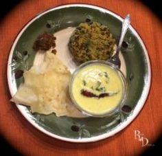 Palak Khichdi with Gujarati Kadhi