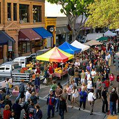 Downtown San Luis Obispo Farmers' Market every Thursday evening.