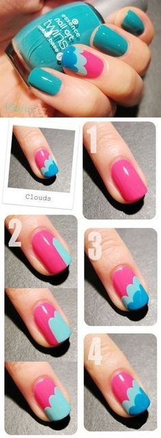 Nail Art How-To: Cloud Design