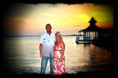 Us at sunset in the Dominican Republic